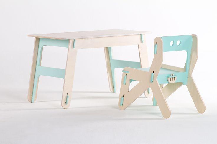 Kids plywood furniture. CLIC #1 turquoise