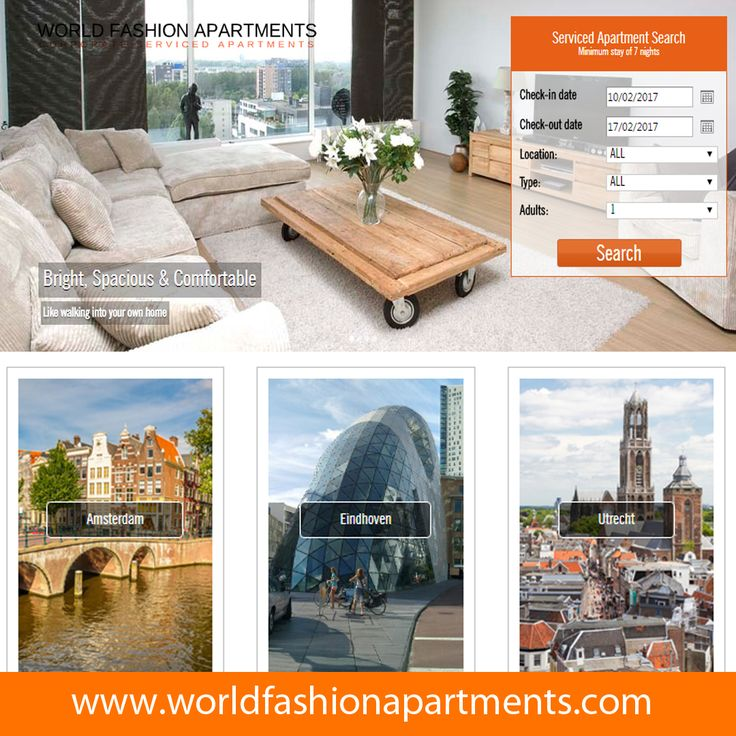 Easy way to search luxurious apartments in Amsterdam, Eindhoven, Utrecht and The Hague at http://www.worldfashionapartments.com/. #WFA #WorldFashionApartments #Apartment #Apartments # Amsterdam # Eindhoven, #Utrecht #TheHague