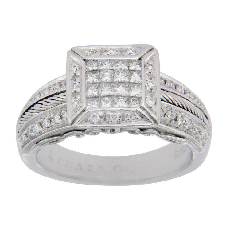 Philippe Charriol Flame Blenche 18K White Diamonds