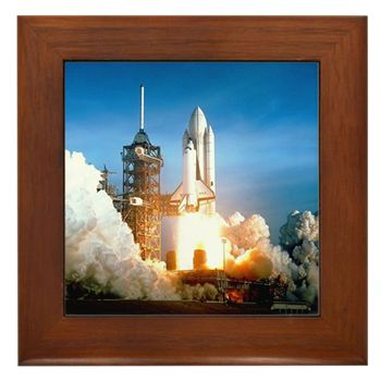 Space Shuttle Columbia-STS 1 launch Framed Tile