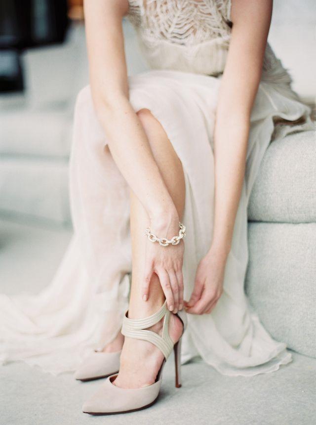 Cream Colored Bridal Shoes