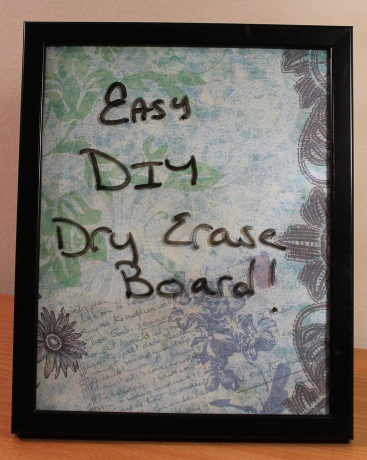 How to Make a Dry Erase Board - DIY Glass Dry Erase Board