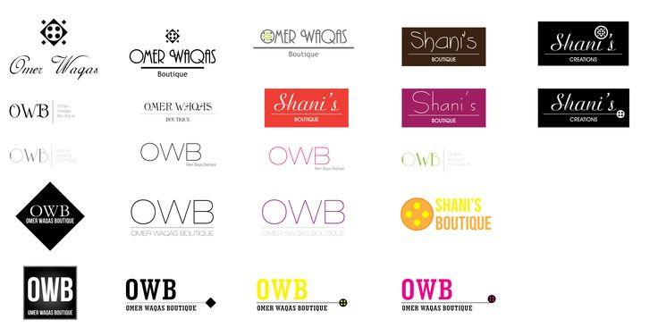 Logo options for a designer boutique