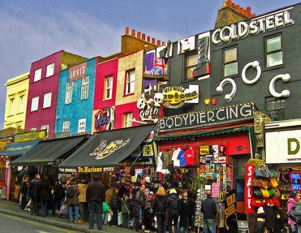 Mercadillo de Camden Town Market en #Londres