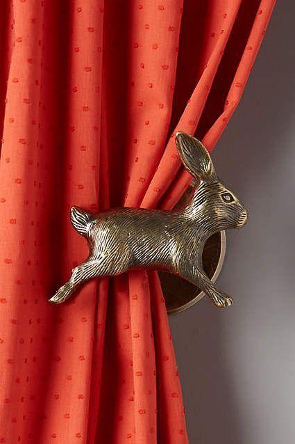 Curious Rabbit Tieback Home Hardware And Bunnies
