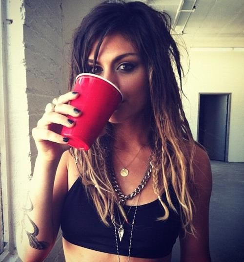 Jahan Yousaf of Krewella has AMAZING ombre hair. Get yours with Manic Panic Flashlightning Bleach Kit! >>>> http://www.manicpanic.biz/store/p/124-FLASHLIGHTNING-Bleach-Kit-30-Volume.aspx