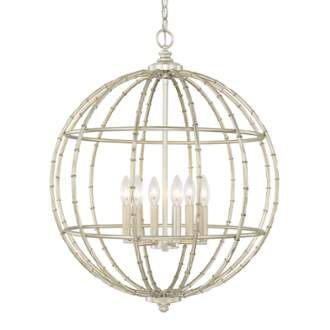 View the Capital Lighting 311861 6 Light 1 Tier Chandelier at LightingDirect.com.