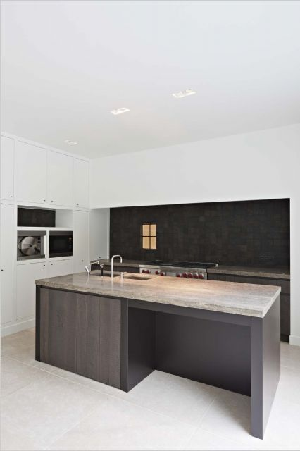 Great Medium Brown Backsplash with Granite countertop