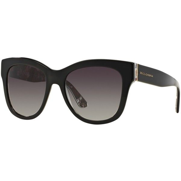 Dolce & Gabbana DG4270 Mama's Brocade Polarised Square Sunglasses (2.587.030 IDR) ❤ liked on Polyvore featuring accessories, eyewear, sunglasses, dolce gabbana sunglasses, adjustable glasses, tinted glasses, square glasses and square lens sunglasses