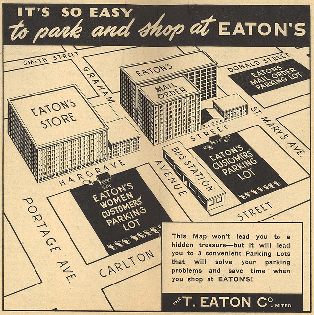 Eaton's in Winnipeg (1953) by Manitoba Historical Maps, via Flickr