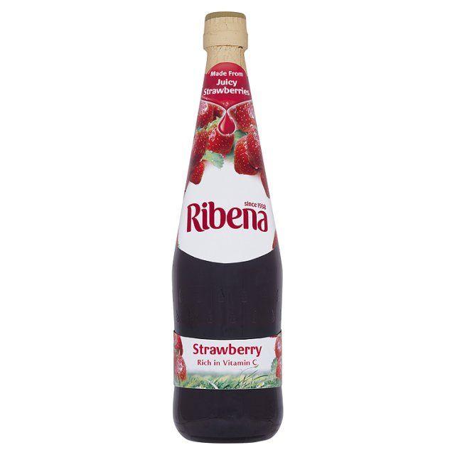 Strawberry Ribena Squash.