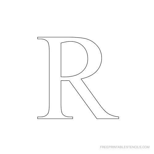 Printable Times New Roman Alphabet Stencil R