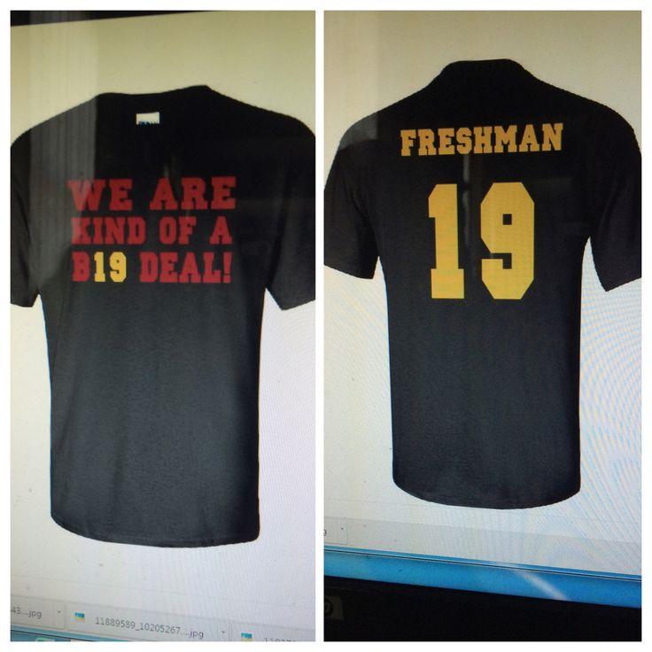 Freshmen class tee shirts