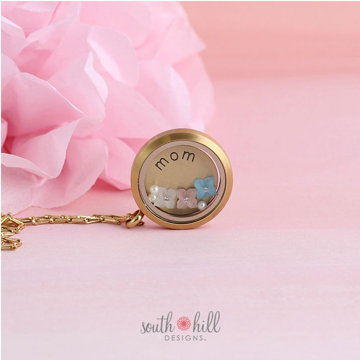 April 2015 Locket of The Month Mom Mother's Day Love Family South Hill Designs Locket Floating Charms Gold Jewelry