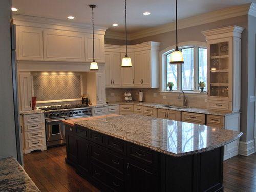 antique kitchen cabinets with dark wood Antique White Kitchen Cabinets