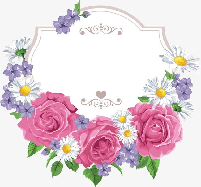 Flower Border Flower Vector Border Vector Flowers Png Transparent Clipart Image And Psd File For Free Download Flower Border Flower Border Png Flower Frame