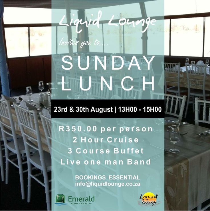 You're invited to our #SundayLunch shenanigans on the 23rd & 30th August.  Bookings essential