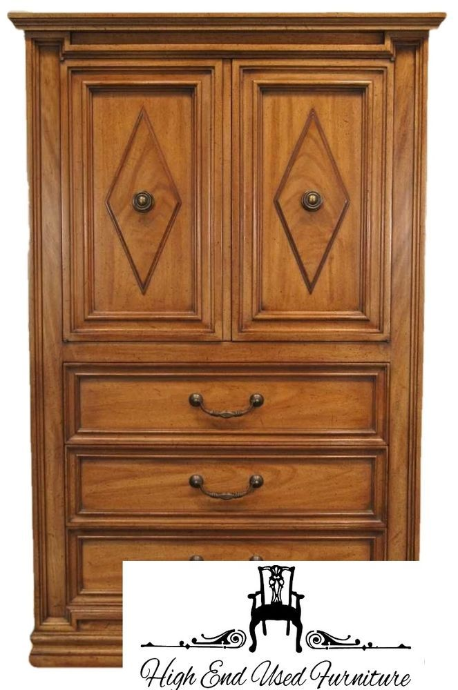 Mount Airy Italian Provincial Neoclical 36 Door Chest Mtairynational