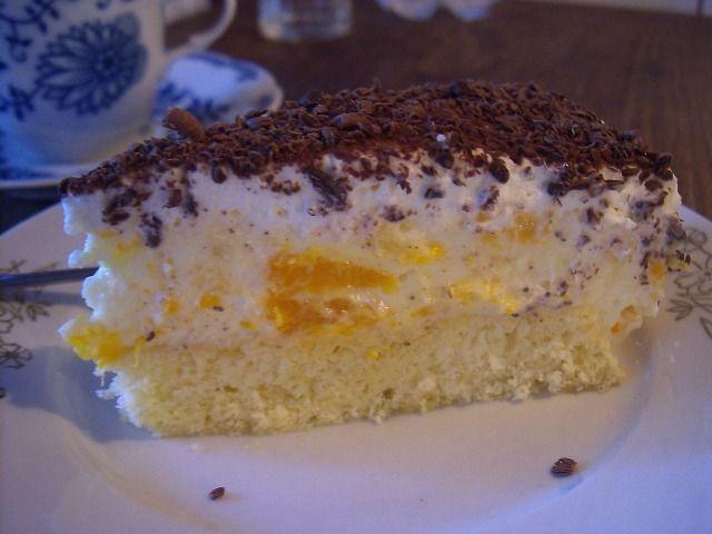 Trasená torta s mandarínkami