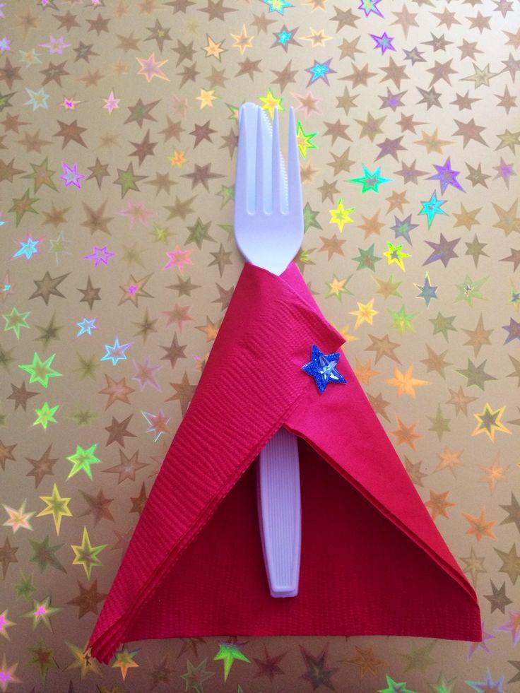 Super utensils! Napkin capes for super hero baby shower