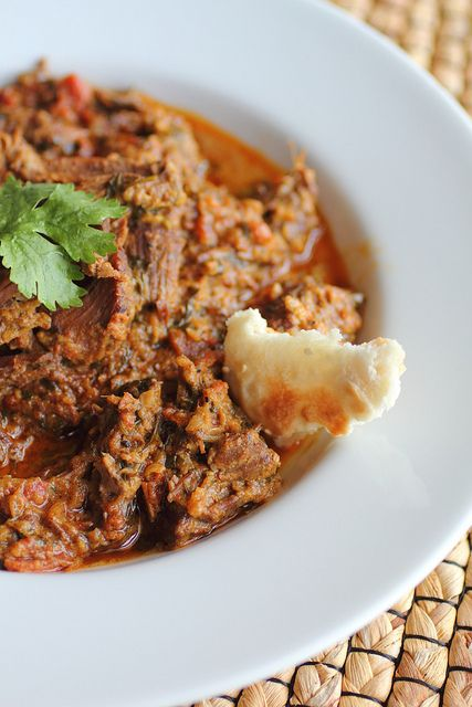 Afghan style beef korma with 'naanette's by Adventuress Heart, via Flickr