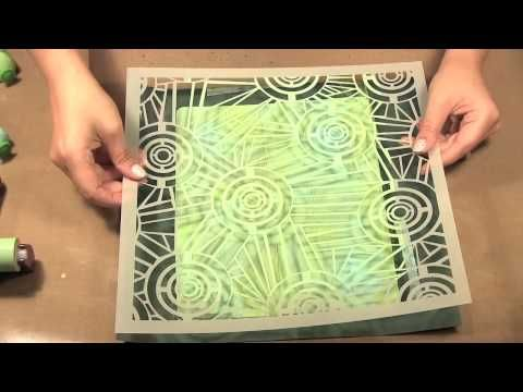 Scrap Time - Ep. 805 - Crafter's Workshop Templates with a Gelli Arts Printing Plate. Christine shows some techniques using the Crafter'sWokshop Templates with a Gelli Arts Printing Plate