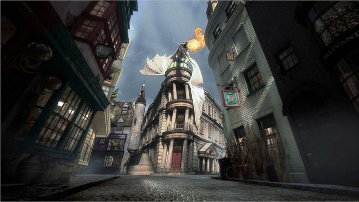 Imagen promocional del Banco de Gringotts en el Callejón Diagon de Universal Orlando