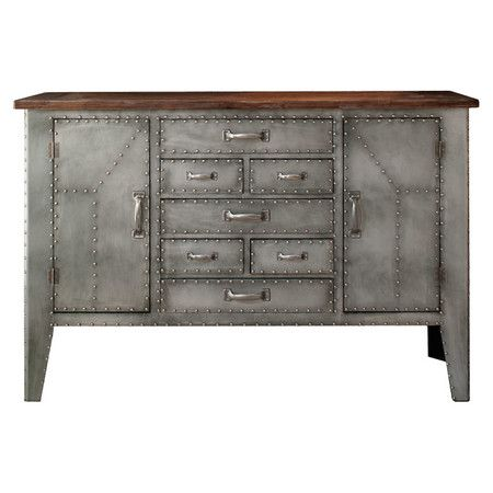£481.95 FOR ATELIER With its metal rivet detailing and wooden construction, this 7-drawer sideboard is perfect for de-cluttering your home whilst adding bold industrial style. ...