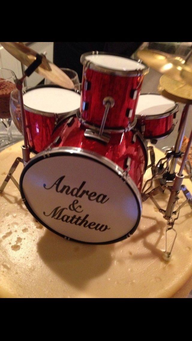 Cake Decorations Drum Kit : Custom drum kit cake topper.. My wedding ideas ...