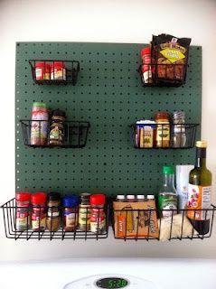 peg board spice rack diy pegboard spice rackcooking accessory holder spice rack - Kitchen Pegboard Ideas