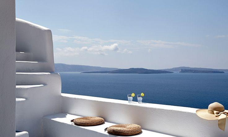 Morning view of Caldera in Santorini. Photograph by Antonis Eleftherakis. ( http://www.pinterest.com/absst/ )