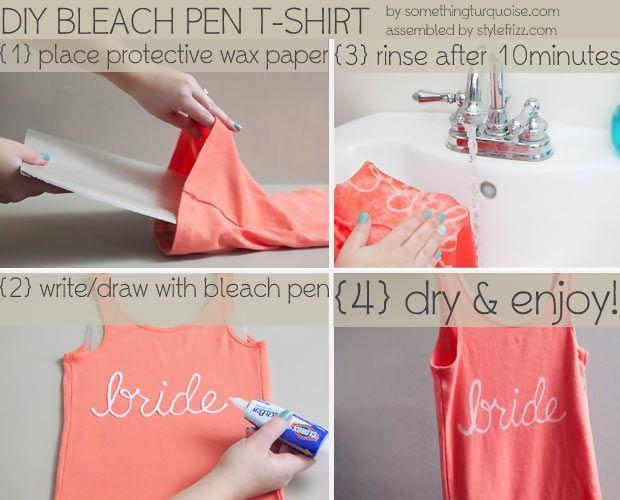 No Solo DIY: Dibujar con el lápiz blanqueador para ropa