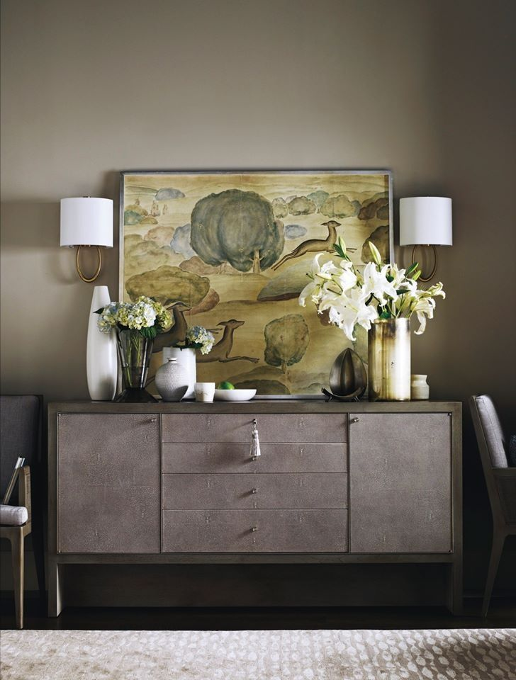 Simple Elegance, Barbara Barry Carmel Console By Baker Furniture