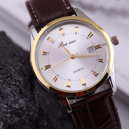 Elegantní pánské hodinky s hnědým koženým páskem a bílým ciferníkem + POŠTOVNÉ ZDARMA Na tento produkt se vztahuje nejen zajímavá sleva, ale také poštovné zdarma! Využij této výhodné nabídky a ušetři na poštovném, stejně jako …
