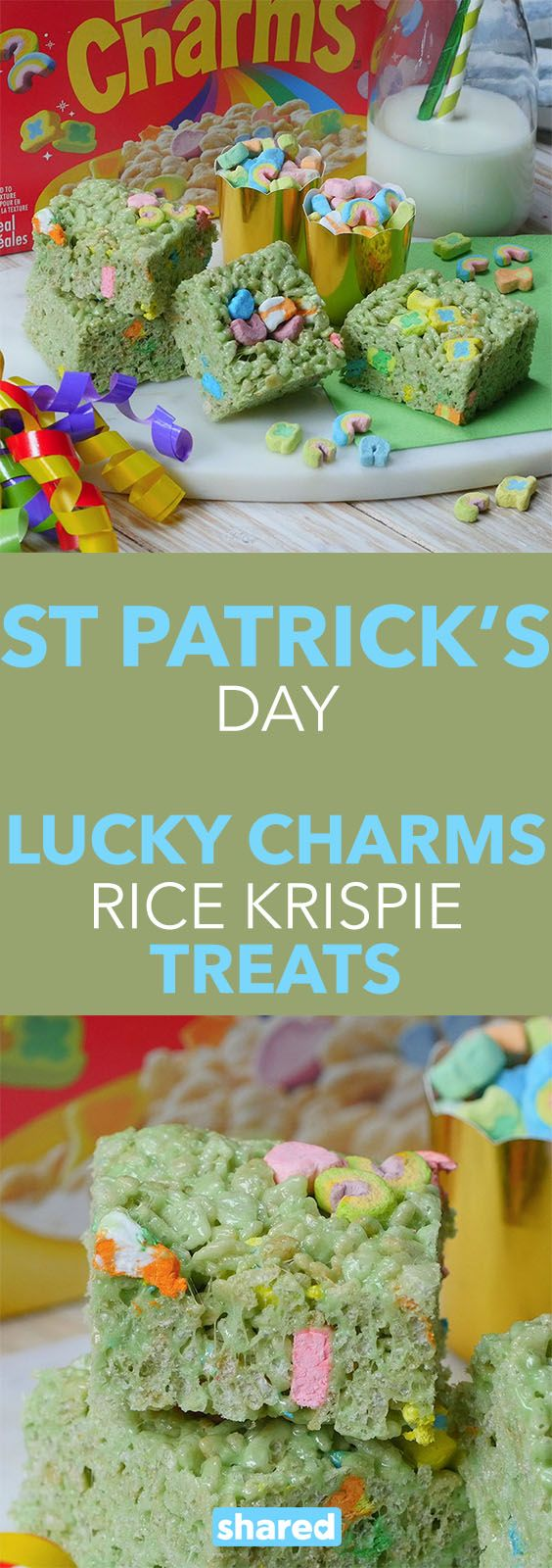 How do you celebrate St. Patrick's Day? From eating green food, to going to the bar for a green beer, there are lots of ways to celebrate the one day of the year that everyone is Irish. Try making this family favorite with a St. Patty's Day spin with this recipe. You can even make these St. Patrick's Day Lucky Charms Rice Krispie Treats with your kids this March Break.