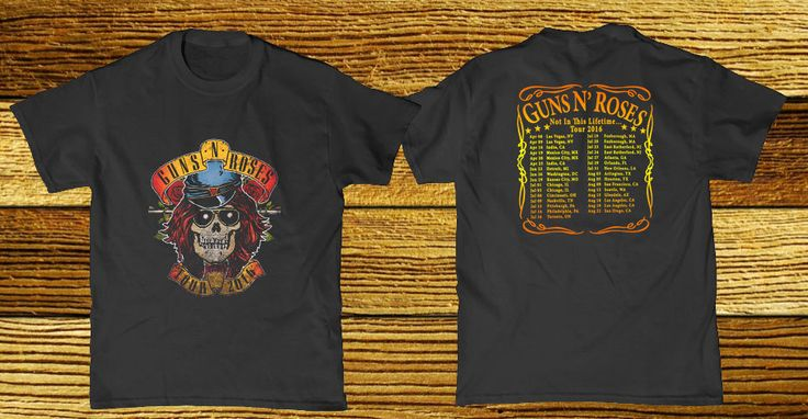 Guns N- Roses- Not In This Lifetime- Tour 2016  #Handmade #GraphicTee