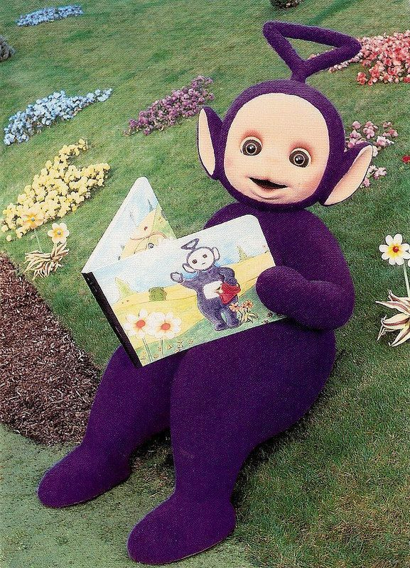 Tinky Winky Of The Teletubbies Red Bags