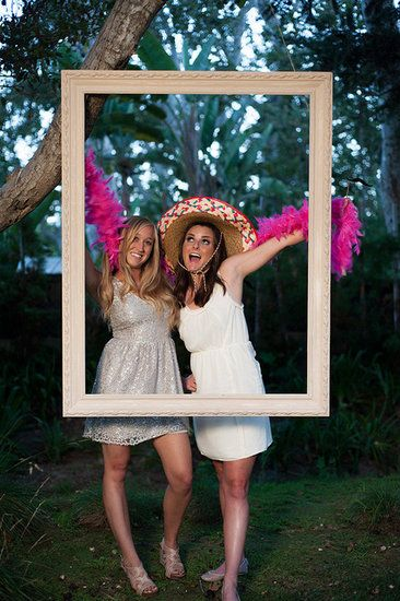 Say CheeseThe easiest way to give your guests something fun to do is by having a photo booth at your reception. You can even create your own like at this wedding with just a tripod and a curtained off space or closet. Be sure to stock it full of props and costumes and have copies of the photo stripes made for your guests to bring home as a keepsake.Photo by Karen Wise Photography via