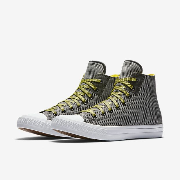 Chuck Taylor All Star 2 Woven High Top Black White Yellow 0a4bf71e4