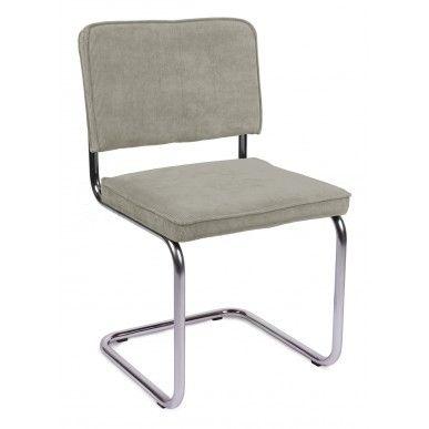 Zuiver stoel Ridge Rib Cool Grey