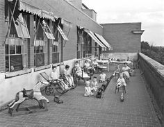 Good Samaritan Hospital, children's porch, 1931