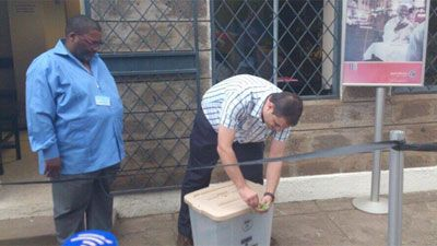 The South African High Commission in Nairobi is among 124 missions making last minute voting preparations.  The transformation of the South African High Commission in Nairobi from an ordinary overseas mission into a voting station is complete, with ballot boxes and booths on loan from the Kenyan Electoral Commission (KEC)
