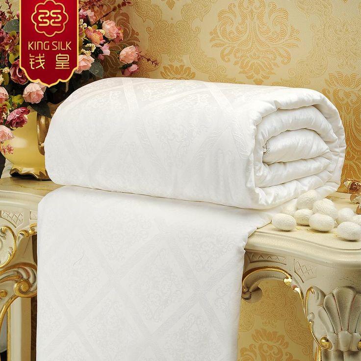 king silk quilt 100 mulberry silk comforter duvet blanket cotton white twin full