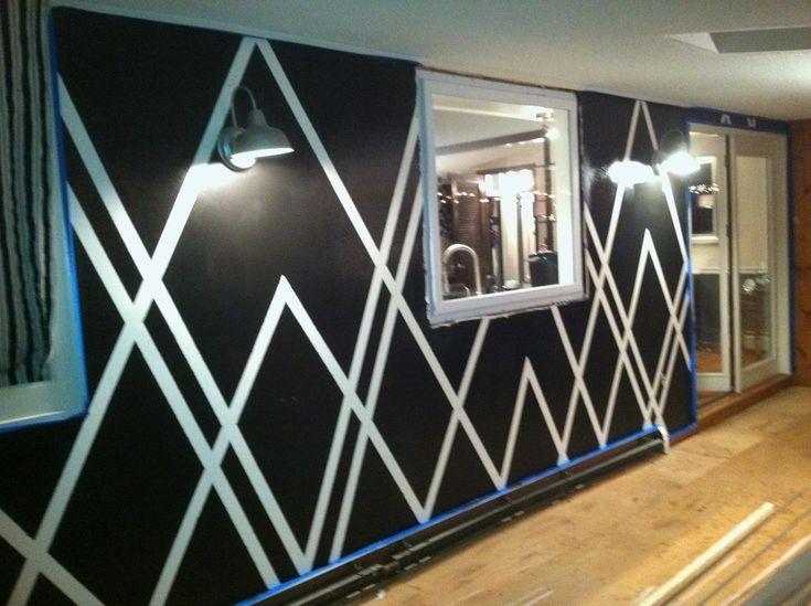 Elegant Decor4poor: Painters Tape Design Wall Home Design Designs Ideas .