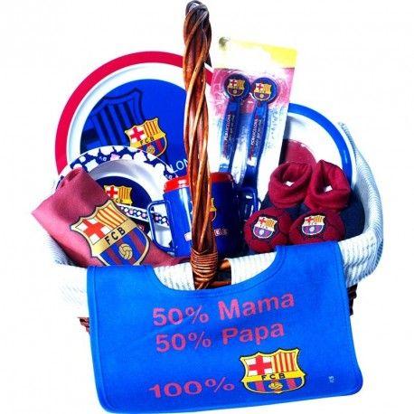 Cesta F. C. Barcelona 1 - La hora de Comer es mucho más divertida con los colores de tu equipo favorito, la cesta para bebé con productos de licencia Oficial del Barça - Fútbol Club Barcelona