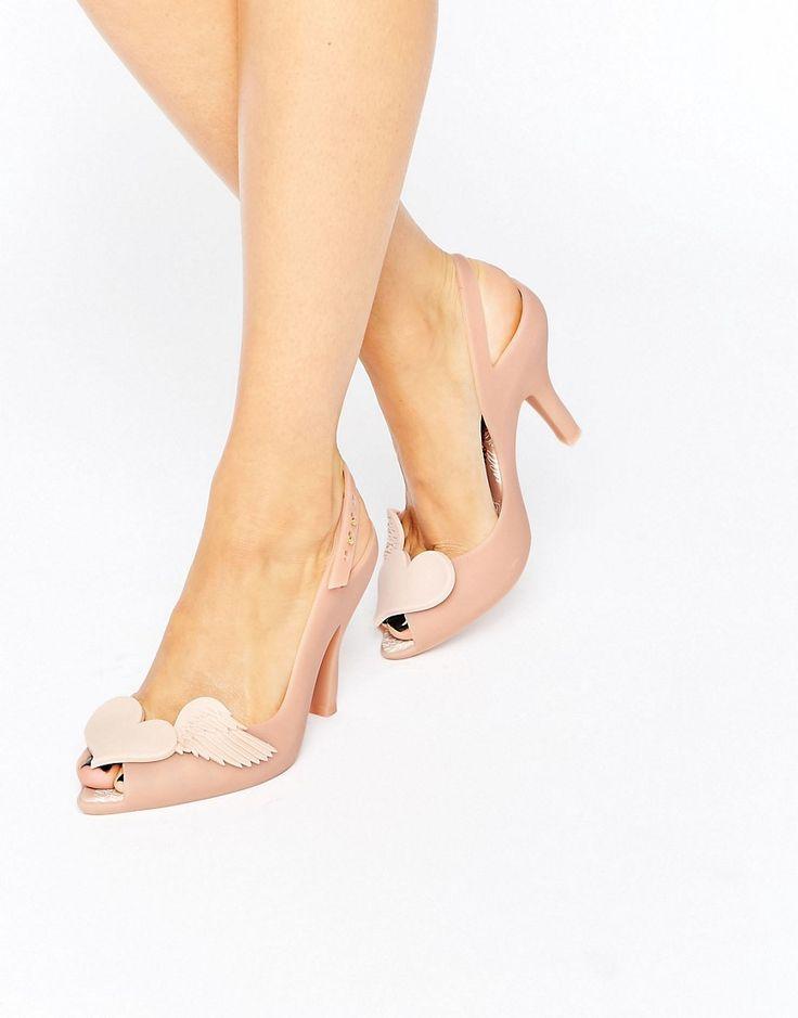 Vivienne Westwood for Melissa - Sandaletten mit 3D-Engel-Flügel-Detail - Beige - Farbe:Beige