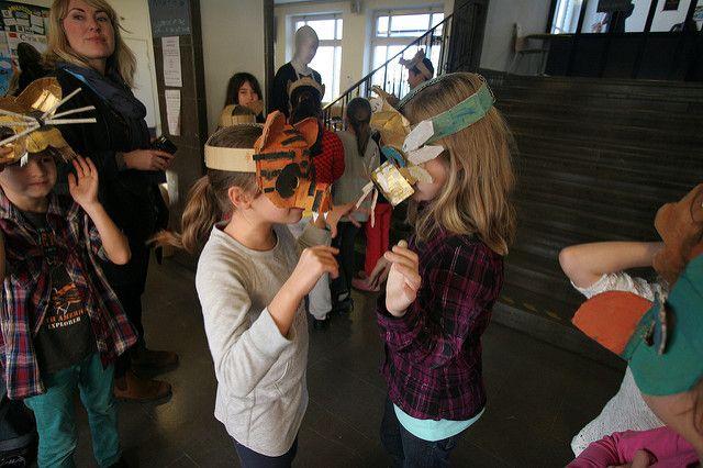 Animal mask workshop | Teaching a class of twenty third-grad… | Flickr