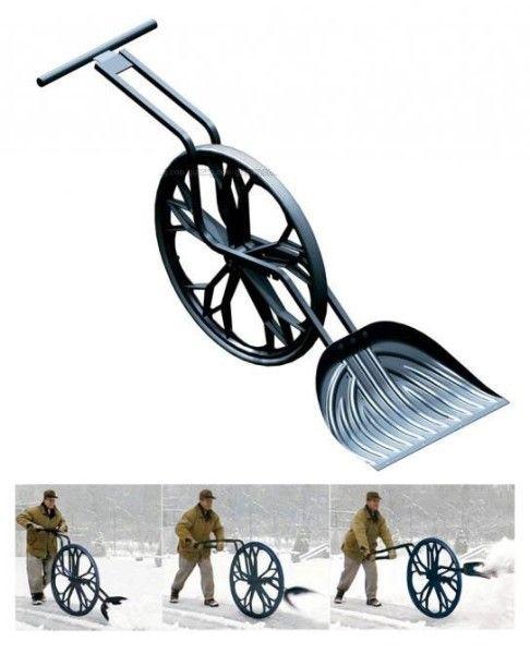easy on the back snow shovel