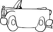 Ausmalbild/Malvorlage Auto Cabrio (Klicken für Großansicht + PDF)