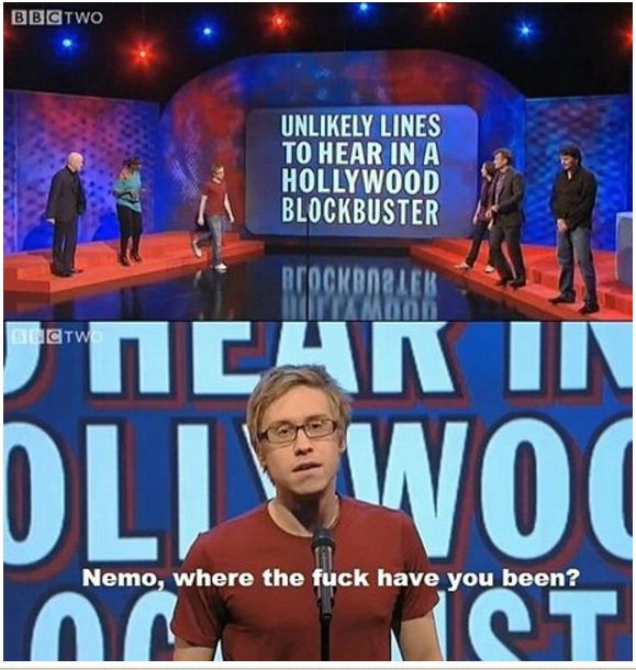 "When Russell Howard had no time for plots. | 31 Times ""Mock The Week"" Was The Funniest Show On TV"